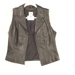 Wilson's Leather Maxima Black Sexy Leathr Vest Top